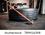 sledge hammer and tire