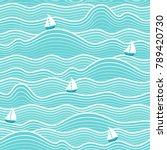 seamless abstract sea... | Shutterstock .eps vector #789420730