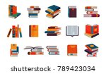 books vector stack of textbooks ... | Shutterstock .eps vector #789423034
