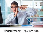 businessman suffering from... | Shutterstock . vector #789425788