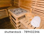 sauna room with traditional... | Shutterstock . vector #789432346