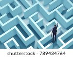 businessman is trying to escape ... | Shutterstock . vector #789434764