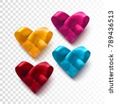 set of colorful realistic woven ... | Shutterstock .eps vector #789436513
