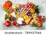 appetizers table with antipasti ... | Shutterstock . vector #789437566