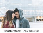young beautiful in love couple... | Shutterstock . vector #789438310