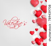 happy valentines day card... | Shutterstock .eps vector #789439708