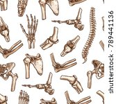 human joints and body parts... | Shutterstock .eps vector #789441136