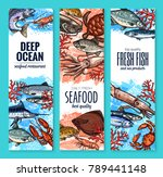 seafood and fish product... | Shutterstock .eps vector #789441148