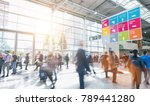 blurred people in a modern hall | Shutterstock . vector #789441280