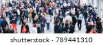 crowd of anonymous blurred... | Shutterstock . vector #789441310