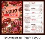 meat house restaurant menu...   Shutterstock .eps vector #789441970
