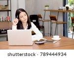 asian young woman working... | Shutterstock . vector #789444934