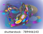 abstract modern circle and oval ... | Shutterstock .eps vector #789446143