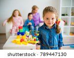 children in kindergarten | Shutterstock . vector #789447130