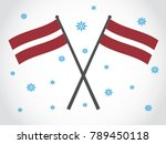latvia emblem snow winter... | Shutterstock .eps vector #789450118