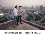 multi ethnic business with... | Shutterstock . vector #789457570