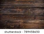 wooden planks background design ... | Shutterstock . vector #789458650