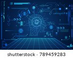 abstract technology ui... | Shutterstock .eps vector #789459283