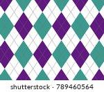 purple and aqua argyle... | Shutterstock .eps vector #789460564