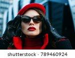 outdoor close up portrait of... | Shutterstock . vector #789460924