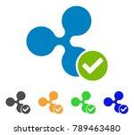 ripple valid icon. vector... | Shutterstock .eps vector #789463480