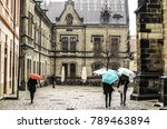 rainy day in the historic... | Shutterstock . vector #789463894