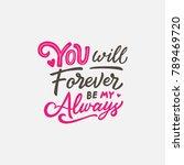 lettering   typography design... | Shutterstock .eps vector #789469720