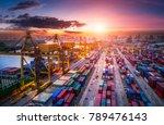 logistics and transportation of ... | Shutterstock . vector #789476143