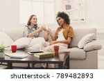 friends toasting with... | Shutterstock . vector #789482893