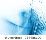 abstract blue and white... | Shutterstock . vector #789486100