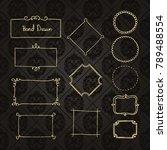 gold frame made in vector....   Shutterstock .eps vector #789488554