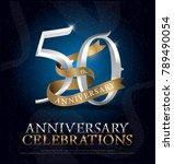 50th years anniversary... | Shutterstock .eps vector #789490054