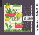 urban farming  gardening or...   Shutterstock .eps vector #789492190