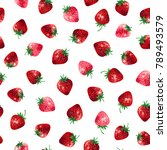 pattern of the strawberry    Shutterstock .eps vector #789493579