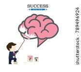 brain painting of businessman...   Shutterstock .eps vector #789496924