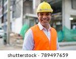 portrait of handsome persian... | Shutterstock . vector #789497659