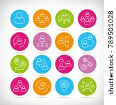 people network icons in... | Shutterstock .eps vector #789501028