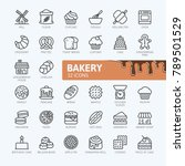 bakery shop elements   minimal... | Shutterstock .eps vector #789501529
