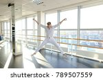 male person doing break dance... | Shutterstock . vector #789507559