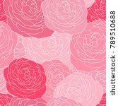 floral seamless pattern with... | Shutterstock .eps vector #789510688