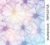 abstract  summer hand drawn... | Shutterstock .eps vector #789510718