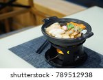 hot pot  nabe  seafood with... | Shutterstock . vector #789512938