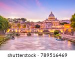 st peter cathedral in rome ... | Shutterstock . vector #789516469