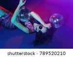 sexy disco party woman.... | Shutterstock . vector #789520210