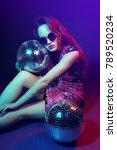 sexy disco party woman.... | Shutterstock . vector #789520234