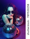 sexy disco party woman....   Shutterstock . vector #789520258