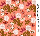 wedding card or invitation... | Shutterstock .eps vector #789525463