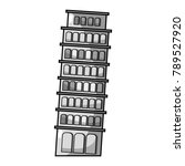 leaning tower of pisa journey...   Shutterstock .eps vector #789527920