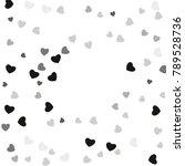 hearts confetti  bright... | Shutterstock .eps vector #789528736