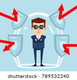 confident businessman stands in ... | Shutterstock .eps vector #789532240